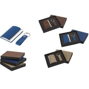 Keychain and Card Holder Set