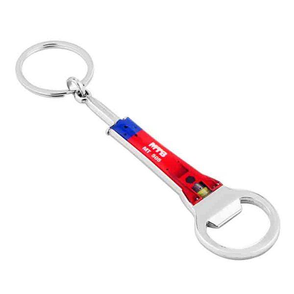 Metal Bottle Opener Plasto Keychain