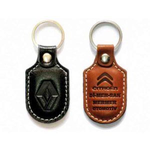 Renault Leather Keychain