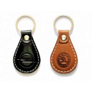 Skoda Leather Keychain