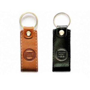 Fiat Leather Keychain