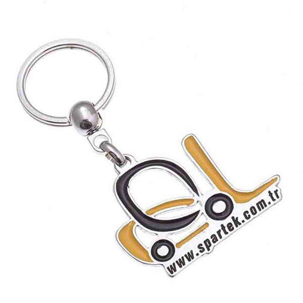 Spartek Nickel Keychain