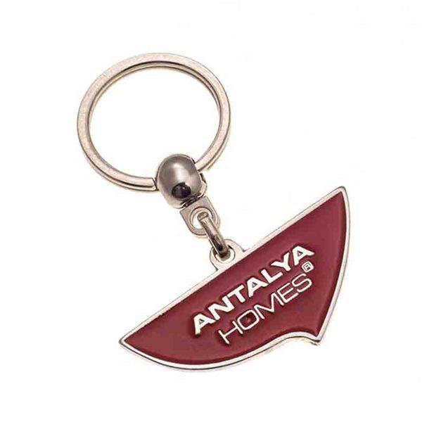 Antalya Homes Nickel Keychain