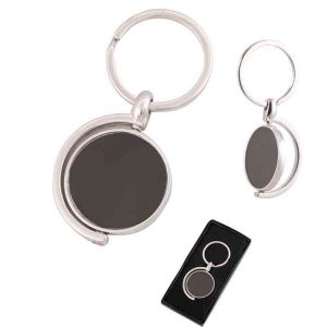 Metal Rotating Keychain