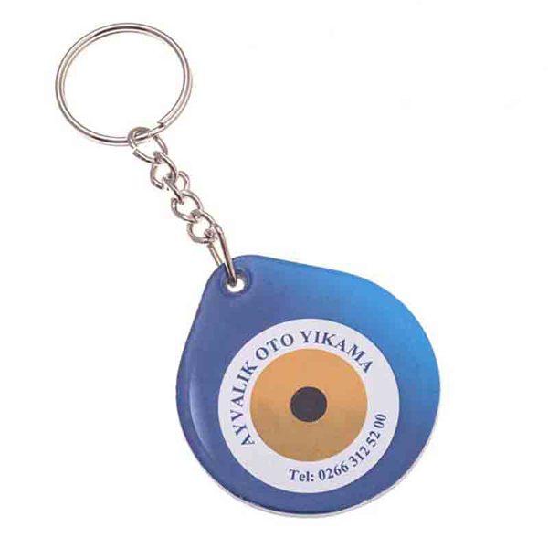 Nazar Boncuğu Puff Keychain