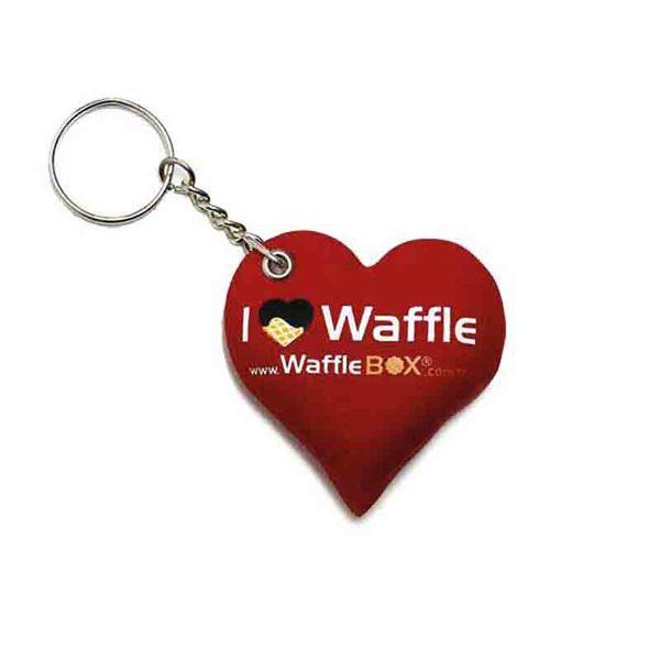 Waffle Puff Keychain