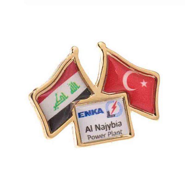 Turkish Flag Plasto Badge