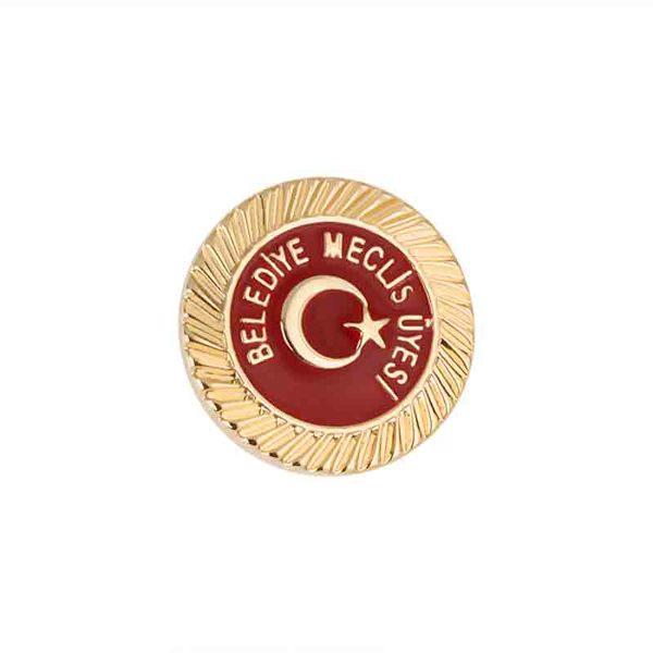 Turkish Flag Enamel Badge