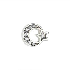 Moon Star Enamel Badge