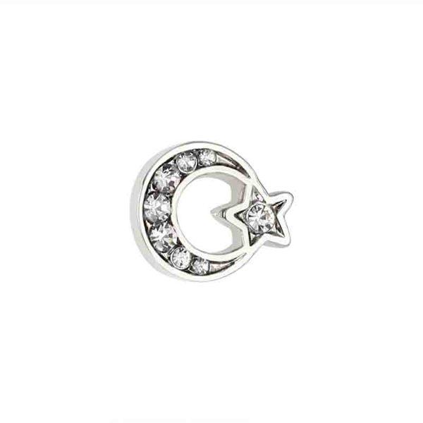 Moon Star Enamel Badge