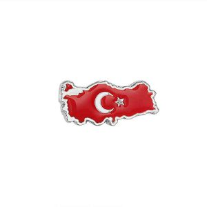 Turkish Flag Enamel Badge