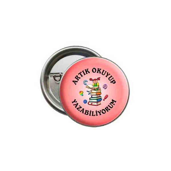 Button School Badge