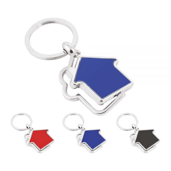 Metal Double Side Circle Keychain